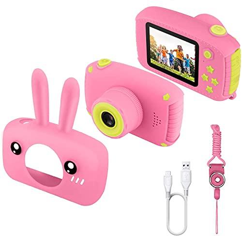 ETPARK Cámara para Niños, Cámara Digital para Niños de 2.0 Pulgadas Cámara Infantil con 12MP HD 1080P Video Recorder Y Mini cordón SLR de diseño anticaída Niños Niñas Regalos creativos