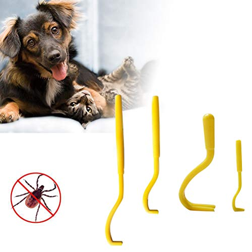 Hihey Zecche Remover 5 Pezzi Plastic Ticks Twister Hook Floedenferner Hook Pet Dog Cat Pet Supplies