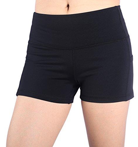 Munvot Short Maillot de Bain Femme Bleu Mini Shorts en Coton Doux sous-Vetement Noir/S