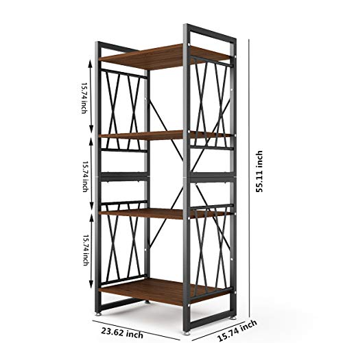 DEWEL-5-Shelf-Bookshelf-Vintage-Industrial-Rustic-Bookshelf-Rack-5-Tier-Metal-and-Wood-Bookcase-70-High-Tall-Bookcase-Etagere-Bookcase-Furniture-Standing-Storage-Shelf-Units-for-Home-Office