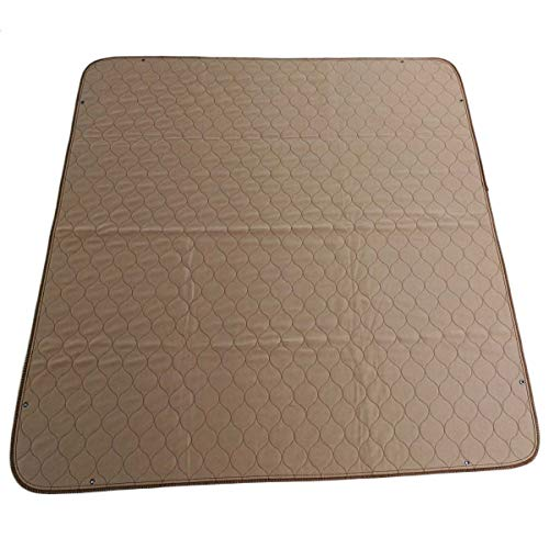 EZwhelp 41'x41' (with Grommets for Use with Bungees) Machine Washable, Reusable Pee Pad/Quilted, Fast Absorbing Dog Whelping Pad/Waterproof Puppy Training Pad/Housebreaking Absorption Pads