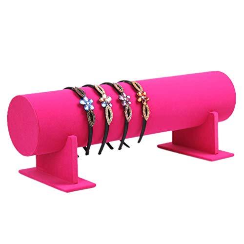 Rysmliuhan Shop Expositor Pendientes Colgador Collares Exhibición de la joyería Diadema de joyería Joyería Organizador Escaparate de la exhibición Scrunchie Titular Rose Red,35cm/13.78inch