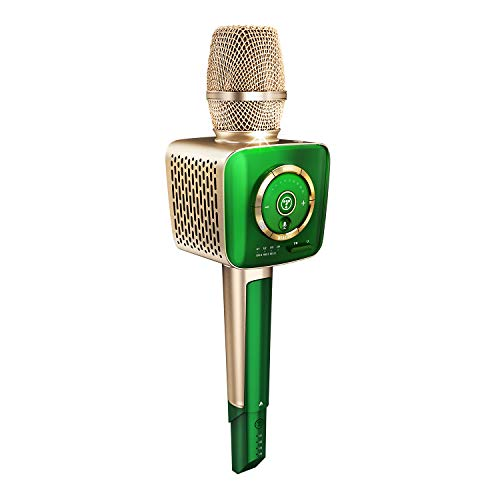 TOSING V1 AI Smart Wireless Bluetooth Speaker Microphone,3-in-1 Portable Handheld Karaoke Mic for Android/PC and All Smartphone (Verde)