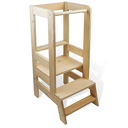 Lernturm Learning Tower - Lernturm Kinder Helferturm Küchenhelfer Lernstuhl Montessori Kitchen Helper Stehhocker