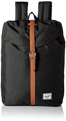 Herschel 10021-00001 Post Backpack Rucksack, 1 Liter, Schwarz/Tan