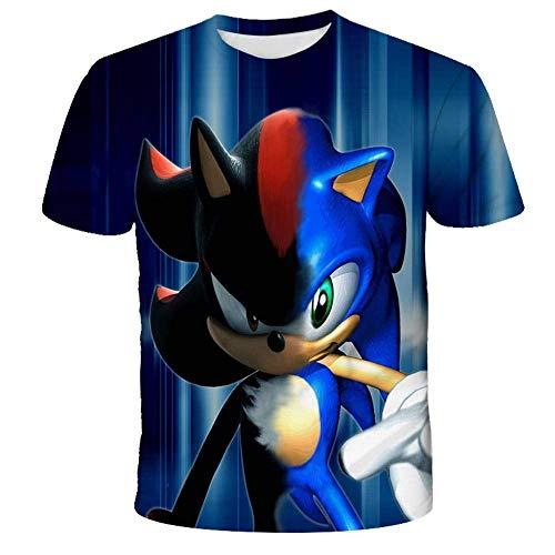 HGdggvd Niños Dibujos Animados Sonic Ropa Niñas 3D Camisetas Divertidas Disfraz Niños Ropa de Primavera Camisetas para niños Top Camisetas para bebés
