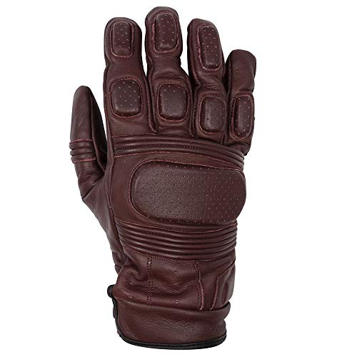 Spada Drahtreifen Ce Motorrad Leder Handschuhe - Java, M