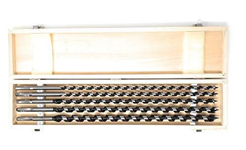 Set di 5 x Punte per trapano/legno a serpentina/coda di rondine da 460 mm 8 – 16 mm