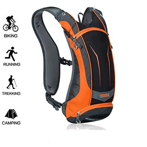 WUZHENG Fahrrad Rucksack-8L Bike Bag Outdoor Sports Rucksack für Camping Wandern Laufen Daypacks,Orange