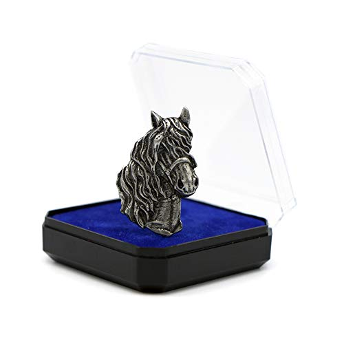 Abzeichen Anstecker Broschedas Pferd Horse Pewter Pins Accessoires für die Liebhaber der Tiere Jagd und Angeln Geschenk für Männer und Frauen