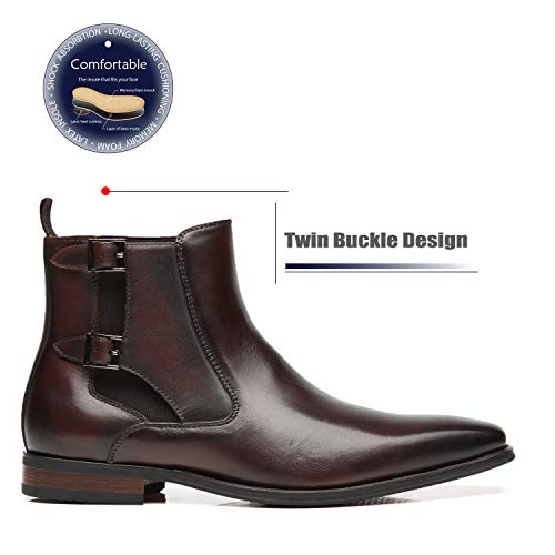 La Milano Men's Chelsea Boots Genuine Leather Comfortable Ankle Boots Classic Formal Dress Boots for Men