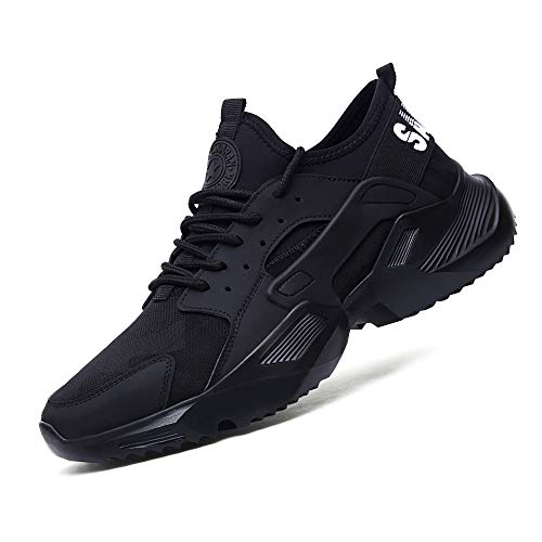 Vaneemor Work Safety Steel Toe Shoes for Men Breathable Non Slip Sneakers Lightweight Construction Industrial Footwear (11, Numeric_11) Black