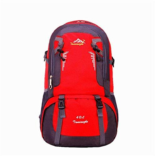 60L Outdoor Sport Randonnée trekking sac à dos étanche , red