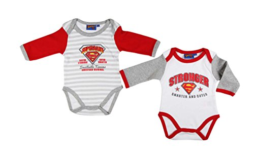 Superbaby - Body - 12 Mois - Blanc Rouge Gris