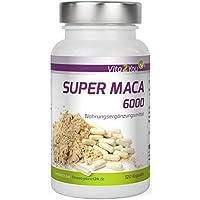 Vita2You Super Maca 6000 - Dosificación alta - 6000mg de raíz de maca por cápsula - 4 meses de stock - Calidad Premium