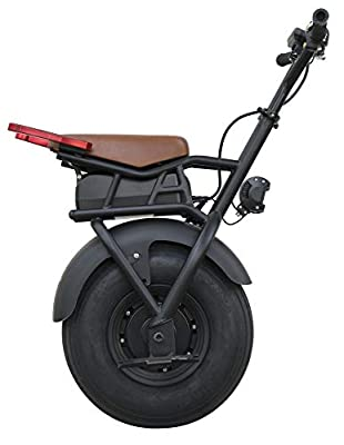SUPERRIDE Self Balancing Electric Unicycle S1000 G2 – One Wheel Electric Scooter with Single Fat Tire & 1000W Motor [Complete Parts] (Frame, Wheel, Battery, Charger, Screen, and LED)