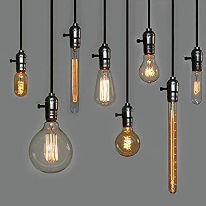 Lamp Bases AC Retro Lamp E27 Bulb 100-240V Incandescent Bulb for Home//Bedroom//Living Room Decoracion Bulbs Holder Color: M; Base Type: E27