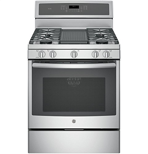 """GE Profile PGB911ZEJSS 30"""" Freestanding Gas Range with with 5.6 cu. ft. Capacity, 5 Burners in Stainless Steel"""