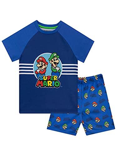 Unbekannt Super Mario Jungen Schlafanzug Mario and Luigi Blau 134