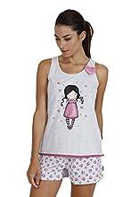 SANTORO Pijama Tirantes Awareness para Mujer