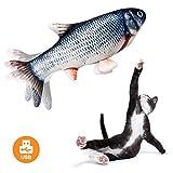 Yidarton ペットおもちゃ 猫玩具 猫用ぬいぐるみ 犬 子供おもちゃ 電動魚おもちゃ 電気猫用おもちゃ USB充電式ペットおもちゃ 猫噛むおもちゃ 動ける魚 運動不足 ストレス解消 猫用知育玩具 留守番対応