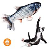 Beewarm Fish Cat Toy Moving Fish Toy Flopping Fish Cat Toy for Cats Interactive Pets Chew Bite Supplies Catnip - Perfect for Biting, Chewing and Kicking (Catfish)