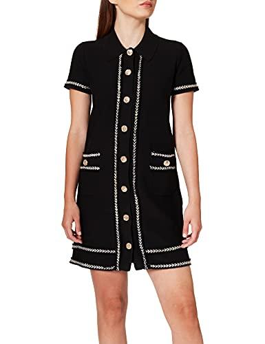 Pinko Women's Football Casual Dress, Z99_Nero Limousine, M
