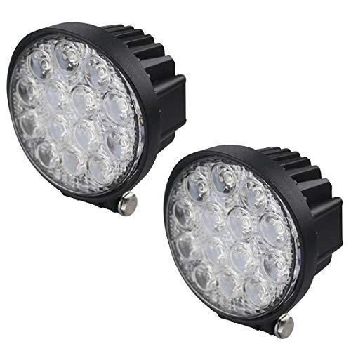 BRIGHTUM 42 W 4.5 inch LED Offroad Faro da lavoro bianco 12 V 24 V 3990 Lumen riflettore rotondo faro worklight luce da lavoro SUV UTV ATV lampada da lavoro trattore escavatore camion auto