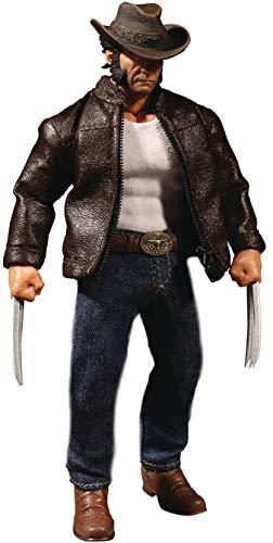 Marvel Collective Logan One:12 Actionfigur Wolverine Detailreiche Actionfigur aus Kunststoff. Hersteller: MEZCO.