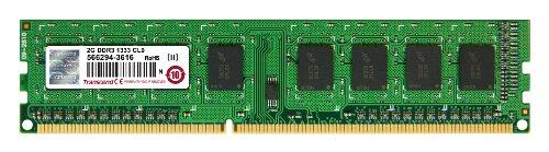 Transcend Arbeitsspeicher 2GB JM DDR3 1333Mhz U-DIMM 1Rx8 256Mx8 CL9 1.5V