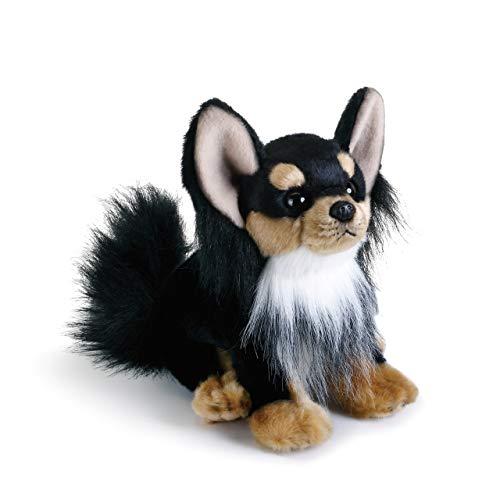 DEMDACO Black Long-Haired Chihuahua Children's Plush Beanbag Stuffed Animal Toy