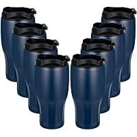 8-Pack 30oz Stainless Steel Double Wall Vacuum Insulated Travel Mug