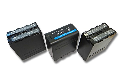 vhbw 3X batería Li-Ion 10400mAh (7.4V) para cámara de vídeo, videocámara Sony...