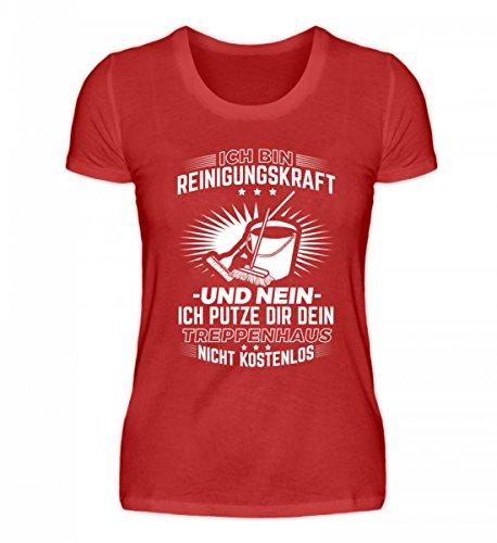 Chorchester - Camiseta para mujer de alta calidad - Perfecto para todos los poderes de limpieza rojo XXL