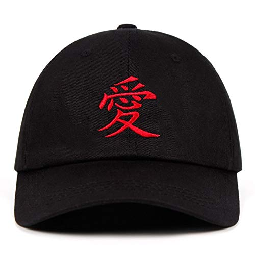 Gaara Stickerei Papa Hut 100% Baumwolle Sabaku Keine Gaara Akatsuki Uchiha Naruto Baseballmütze Anime Snapback (Color : Black, Size : One Size)