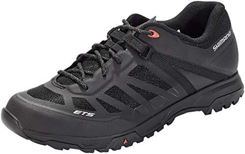 SHIMANO Unisex Zapatillas MTB ET500 Sneaker, Schwarz, 45 EU