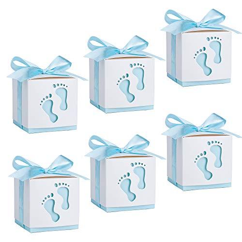 Geschenkbox, Süßigkeit Kästen Gastgeschenk Box für Neugeborene Babydusche, Pralinenschachtel für Kinder Geburtstag, Hochzeit, Taufe Geburt Party (50 Stück)