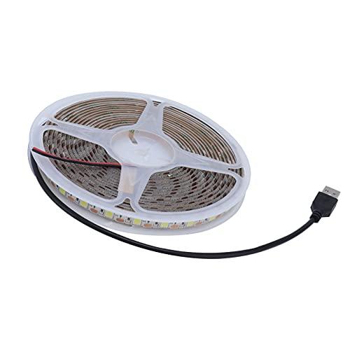 Nuobi Cinta de luz LED, 15W 5M / 16.4Ft Tira de luz Flexible fácil de Instalar para Fondos de televisión Vallas publicitarias Centros comerciales para decoración del hogar Iluminación Cajas de