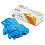 Nitrile Gloves Kids Gloves Disposable, Nitrile Gloves for Children Latex Free, Food Grade, Powder Free - for Kids Festival Preparation, Crafting, Painting, Gardening, Cooking (S for 7-12 Years, Blue)