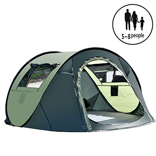ZYLEDW Pop Up Demo Tent 4~5 Man, Camping Tent Waterproof Instant Automatic, UV Protected, Easy Set Up, Dome Holiday Tent Double Layer, for Outdoor Camping