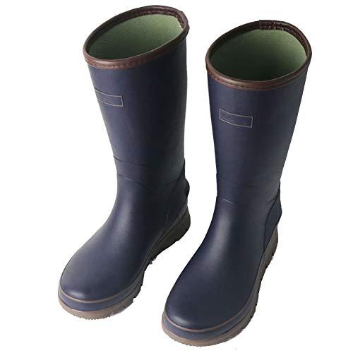 LINGZE Botas de Lluvia Impermeables para Hombres, Zapatos Ligeros de jardín al Aire Libre, Verde/Azul
