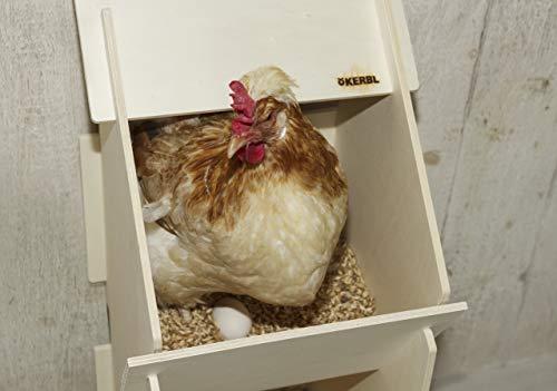 Kerbl 73005 Hühner Legenest aus Holz, unmontiert, 30 x 35 x 83 cm - 9