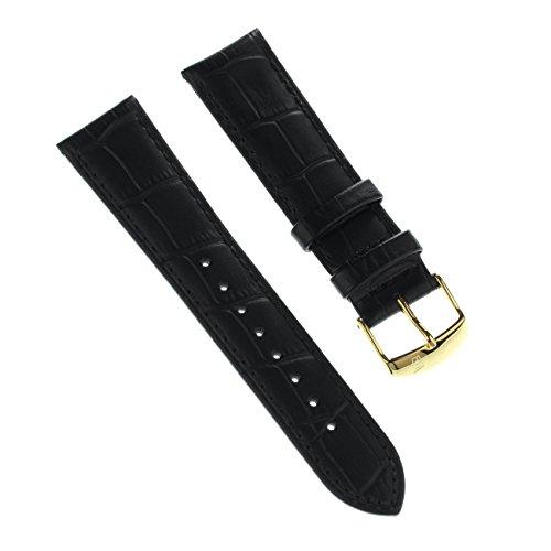 Festina Correa de reloj elegante de piel negra para relojes Festina F16753, F16751