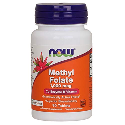 Now Foods, Methylfolat, 1.000 mcg, 90 vegane Tabletten, glutenfrei, sojafrei