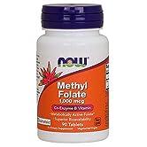 NOW Foods - Magnetocardiogramma metilico 1000 del folato. - 90 Ridurre in pani - 41H+oCBoIXL. SS166