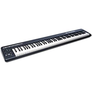 M-Audio Keystation 88 II, Portable 88-Key USB/MIDI Keyboard Controller with Synth-Action Velocity-Sensitive Keys and Studio Software from Sonivox (Eighty-Eight Ensemble) for Mac and PC