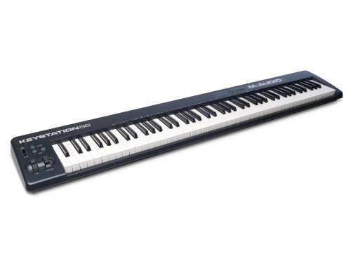 M-Audio Keystation 88 II - 88 Key USB/MIDI Keyboard Controller with Velocity-Sensitive Semi-Weighted Keys Including Production Software for Mac & PC