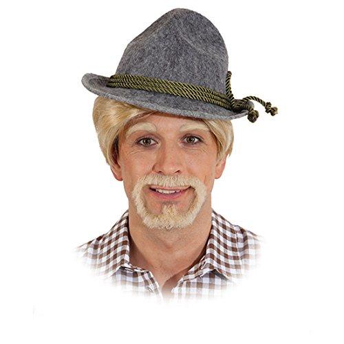 NET TOYS Anton aus Tirol Bart Ötzi Kunstbart blond Bayrischer Herrenbart Trachten Männerbart Oktoberfest Echthaarbart Herren Echthaar Faschingsbart Karnevalskostüme Accessoires Herren