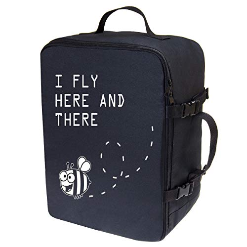 Hand Luggage for Ryanair Multifunctional Carry-On Travel Backpack Baggage Cabin Flight Weekend Backpack Carry On Bag Travel Hand Luggage Size 40x25x20cm Bee [102]