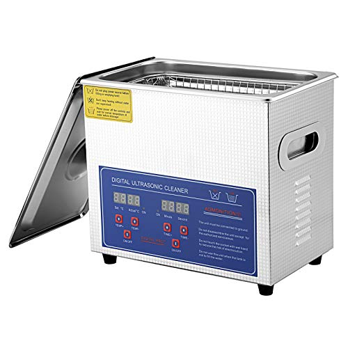 SEAAN Macchina per la pulizia ad ultrasuoni, piccola attrezzatura industriale per la pulizia a ultrasuoni Pulitore ad ultrasuoni digitale per parti metalliche e laboratori di gioielli (3L)